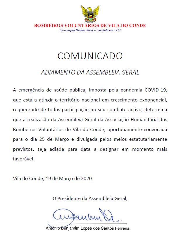 AG - COMUNICADO